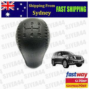For Nissan Patrol GU GQ Series w/ Manual Transmission Leather Black Gear Knob