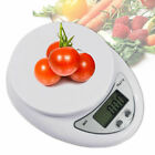 White Digital Kitchen Food Cooking Scale Weigh in Pounds Grams Ounces and KG photo