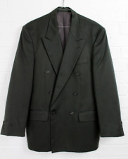 Vintage 1980s Mens Burton Double Breasted Suit Jacket Size 38R