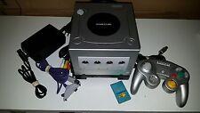 Nintendo GameCube Silver Bundle GameBoy Player Controller Memory AV Power WORKS!