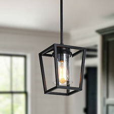 Industrial Kitchen Island Pendant Light With Glass Shape Hanging Chandelier Lamp