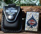 Zippo Lighter - Harley Davidson HDPBK Belt Pouch Case - Ace Of Spades - # 28688