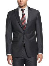 Andrew Fezza Men's Blazer Dark Blue Texture 40/Reg Slim Fit Jacket Blazer