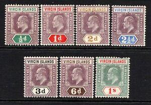 British Virgin Islands KEVII  1904 Set to 1s SG54-60 LM/Mint