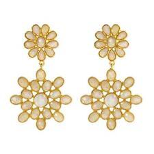 AMRITA SINGH  East Lake Sunset Flower Opal Drop Earrings ERC 377  in Moonstone
