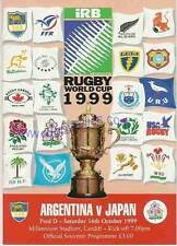 Argentina / Japón 1999 Rugby World Cup programa Rwc