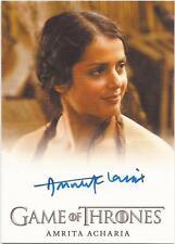 "Game of Thrones Season 3 - Amrita Acharia ""Irri"" Autograph Card"