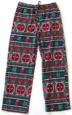 Marvel Deadpool Ugly Christmas Sweater Fair Aisle Fleece Pajama Pants Size L NWT