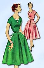 1950s Vintage Simplicity Sewing Pattern 1080 Uncut Misses Cocktail Dress Size 12
