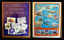 """Bloc timbres: """"Le siècle au fil du timbre""""-° Un SIECLE de TRANSPORTS et VOYAGES)"""