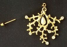 Golden Design With Pearl Fashion Brooch Muslim Hijab Scarf Pin On A Stick