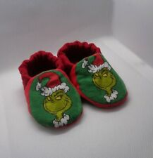 Grinch Baby Moccasins, Holiday Baby Shoes, Anti-slip Slippers