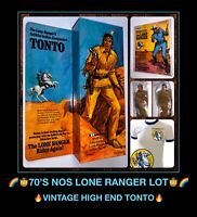 NOS vtg 70s Hubley TONTO Gabriel Marx LONE RANGER Rides Again Action Figure Doll