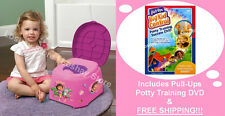 Nickelodeon Dora the Explorer 3in1 Potty Training Chair Step Stool Stickers DVD