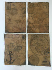 Pirate Treasure Map Aged Reproduction Print - 2 Maps