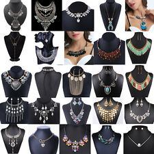 Mode Damen Blume Halskette Perlen Kette Statement Choker Schmuck Collier Blogger