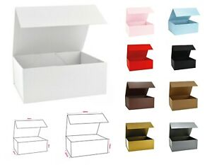 Magnetic Box - Flat Pack Self Assemble -Birthday, Wedding, Xmas, VARIOUS COLOURS