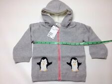 H&M Baby Girl Lined Cotton Cardigan Hooded Gray 12-18M