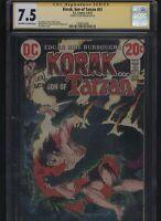 Korak, Son of Tarzan #51 CGC 7.5 SS Len Wein 1973 - FRANK THORNE Joe Kubert