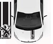Adesivo peugeot  cofano auto stickers tuning 106 107 108 206 207 208 308