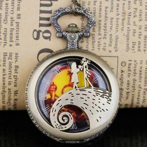 Steampunk Quarz Taschenuhren Tim Burtons Thema Weihnachten