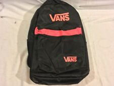 "NWOT Vans Black Pink Mixed 12"" X 19"" Shoulder Straps Two Compartment Backpack"