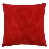 """2 X FILLED MODERN THICK SOFT CHENILLE SPOT DOT RED CUSHIONS 22"""""""