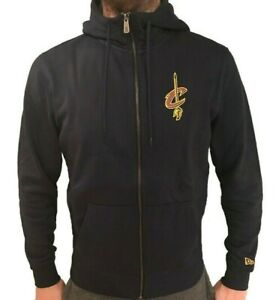 NEW Cleveland Cavaliers NBA New Era Team Apparel Full Zip Hoodie Navy Cavs Hoody