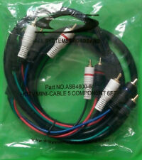 (NEW) All Systems Broadband Cable Mini 5 Component RCA Cable ASB4800- 6 FT