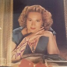 Virginia Mayo SIGNED 8x10 Photo   Technicolor Blonde Actress