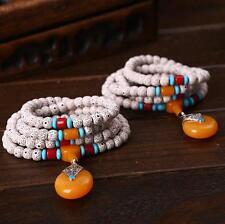 8mm Buddhist Prayer Bracelet Bodhi Root Pray 108 Beads Hand Catenary Necklace