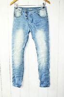 Place du Jour Vintage   Boyfriend  Jeans Hose Gr 38 Stretch  Blau   NEU
