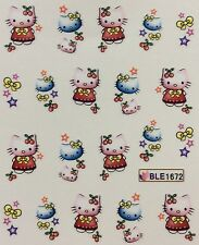 Nail Art Water Decals Hello Kitty Stars Bows Cherries BLE1672