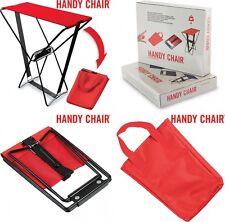 Silla portatil Plegable color Rojo, Soporta hasta 90 kg,camping,playa..