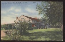 Postcard ROCKY MOUNT NC  Benvenue Golf Course Country Club House view 1930's