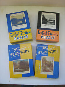 Vintage PERFECT PICTURE Jig-Saw Puzzles (Set 4) - Complete