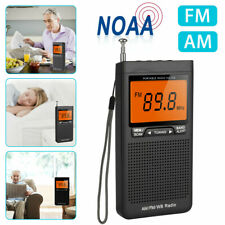 Emergency Pocket NOAA AM FM Weather Radio Compact Portable Auto-Search