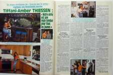 *TIFFANI AMBER THIESSEN => 2 PAGES 1991 FRENCH CLIPPING (FREE Shipping !!!)