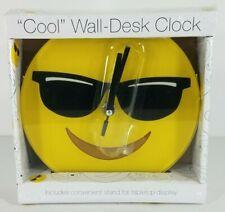 NIP Mark Fieldstein & Associates smiley face with sunglasses wall clock w stand
