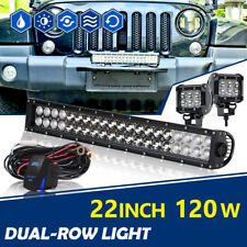 22INCH 120W Led Light Bar Flood Spot FOR Driving Truck ATV UTE