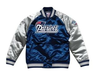 Authentic New England Patriots Mitchell & Ness NFL Tough Seasons Satin Jacket