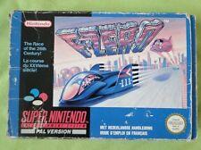 F-ZERO - Jeu complet en boite - SNES Super Nintendo - PAL B FAH
