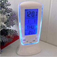 Color Changing Digital Led Desk Clock Alarm Snooze Thermometer Calendar Display