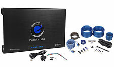 New Planet Audio Anarchy AC2000.2 2000W 2 Channel Car Amplifier+Amp Kit+Remote