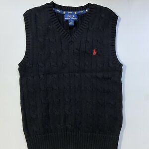 NEW Nwt Ralph Lauren Polo Boys Cable Knit Sweater Vest School Holiday Size 7 $39