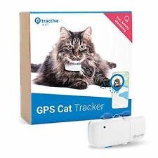 Tractive GPS collar for Cats, Tracker with unlimited Range, Activity Monitor,