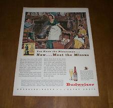 1944 BUDWEISER BEER ORIGINAL AD PRINT - BUY WAR BONDS & STAMPS