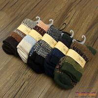 5 Pairs Men Winter Warm Thick Wool Mixture ANGORA Cashmere Casual Dress Socks UK