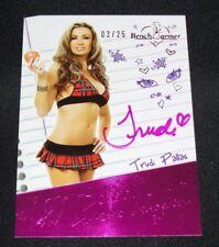2014 Benchwarmer TRUDI PALLAS Hot For Teacher #89 SCHOOL GIRLS Pink Auto/25 Sexy