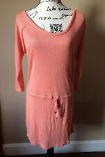 Victoria's Secret Women's Medium Salmon pink Dress Drop Waist 3/4 sleeve